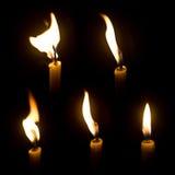 Luz da vela Imagens de Stock Royalty Free