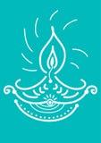 Luz da vela de Diwali Imagem de Stock
