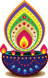 Luz da vela de Diwali Imagens de Stock Royalty Free