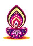 Luz da vela de Diwali Fotos de Stock Royalty Free
