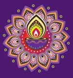 Luz da vela de Diwali Imagem de Stock Royalty Free