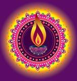 Luz da vela de Diwali ilustração royalty free