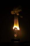Luz da vela do bulbo Imagens de Stock