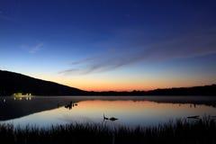 Luz das estrelas no lago Imagens de Stock Royalty Free