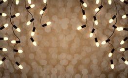 Luz das festões dos feriados Foto de Stock Royalty Free