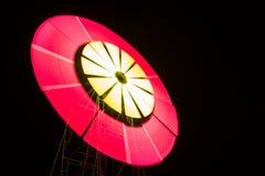 Luz das lâminas do moinho de vento Foto de Stock