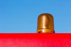 Luz de advertência de giro da laranja Fotografia de Stock