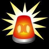 Luz de advertência de piscamento Fotos de Stock Royalty Free
