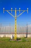 Luz de aproximação da pista de decolagem Fotos de Stock Royalty Free