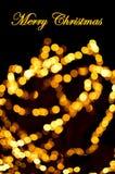 Luz de Bokeh del oro Imagenes de archivo