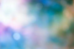 Luz de Bokeh en fondo azul de color en colores pastel Fotos de archivo