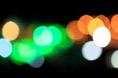 Luz de Bokeh en la celebración Imagenes de archivo