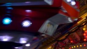 Luz de bulbo do parque de diversões vídeos de arquivo