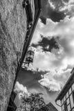 Luz de calle contra el cielo detalles Castillo en Eisenach, Alemania de Wartburg Fotos de archivo libres de regalías