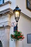 Luz de calle del Lit, Zagreb, Croacia fotografía de archivo