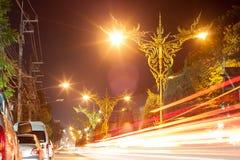 Luz de calle moderna fotografía de archivo