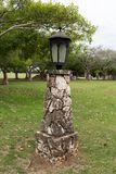 Luz de calle de piedra del vintage Foto de archivo libre de regalías