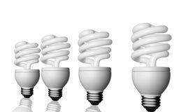 Luz de CFL stock de ilustración