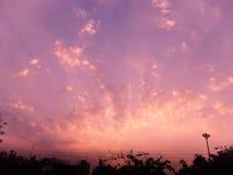 Luz de cielo de la puesta del sol Imágenes de archivo libres de regalías