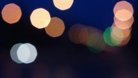 Luz de Defocus en camino almacen de video