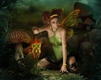 Luz de Elven, 3d CG stock de ilustración