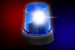 Luz de emergencia de la sirena de policía Foto de archivo libre de regalías