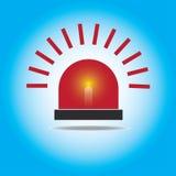 Luz de emergência de piscamento vermelha da sirene Fotografia de Stock Royalty Free