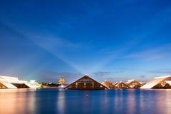 luz de lâmpada do Noite-cabo de Guang Fulin Park Fotografia de Stock