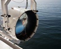 Luz de la búsqueda del barco de cruceros fotografía de archivo libre de regalías