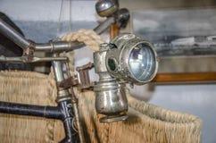 Luz de la bicicleta del vintage Fotografía de archivo