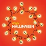 Luz de la calabaza de Halloween Fotografía de archivo libre de regalías