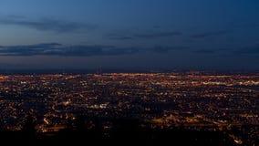 Luz de la ciudad de Dublín en la oscuridad Fotografía de archivo