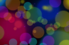 Luz de la ciudad en la noche en muchos colores imágenes de archivo libres de regalías
