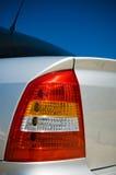 Luz de la cola del coche fotografía de archivo