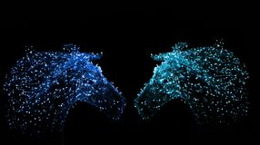 Luz de la decoración en la forma del unicornio de la noche Imagen de archivo