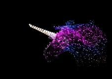 Luz de la decoración en la forma del unicornio de la noche Imágenes de archivo libres de regalías