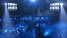 Luz de la etapa 3d del concierto almacen de video