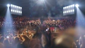 Luz de la etapa 3d del concierto almacen de metraje de vídeo