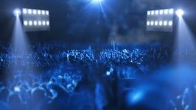 Luz de la etapa 3d del concierto metrajes