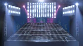 Luz de la etapa 3d del concierto ilustración del vector
