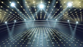Luz de la etapa 3d del concierto libre illustration