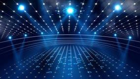 Luz de la etapa 3d del concierto stock de ilustración