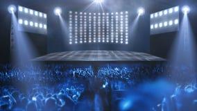 Luz de la etapa del concierto de la muchedumbre libre illustration