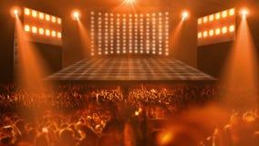 Luz de la etapa del concierto de la muchedumbre