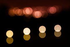 Luz de la falta de definición de la Navidad Imagen de archivo
