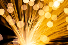 Luz de la fibra óptica Foto de archivo