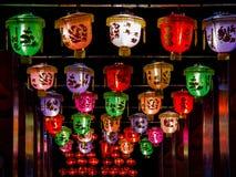 Luz de la fila a partir del Año Nuevo chino Imagen de archivo libre de regalías