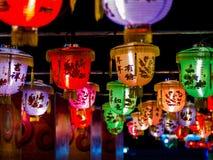 Luz de la fila a partir del Año Nuevo chino Foto de archivo libre de regalías