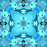 Luz de la geometría del caleidoscopio de la acuarela Fotografía de archivo libre de regalías