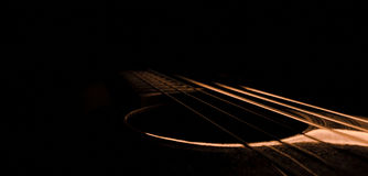 Luz de la guitarra Imagen de archivo